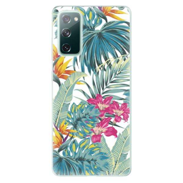 Odolné silikonové pouzdro iSaprio - Tropical White 03 - Samsung Galaxy S20 FE