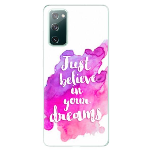 Odolné silikonové pouzdro iSaprio - Believe - Samsung Galaxy S20 FE