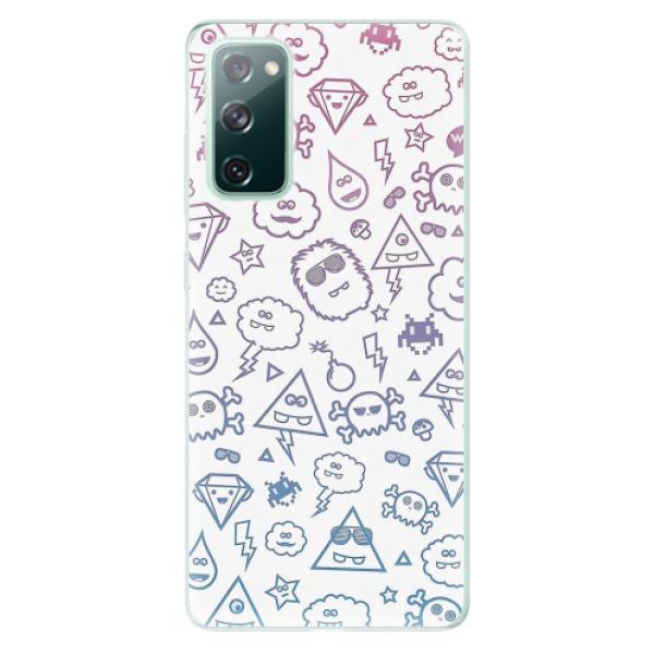 Odolné silikonové pouzdro iSaprio - Funny Clouds - Samsung Galaxy S20 FE