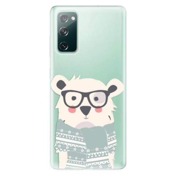 Odolné silikonové pouzdro iSaprio - Bear with Scarf - Samsung Galaxy S20 FE