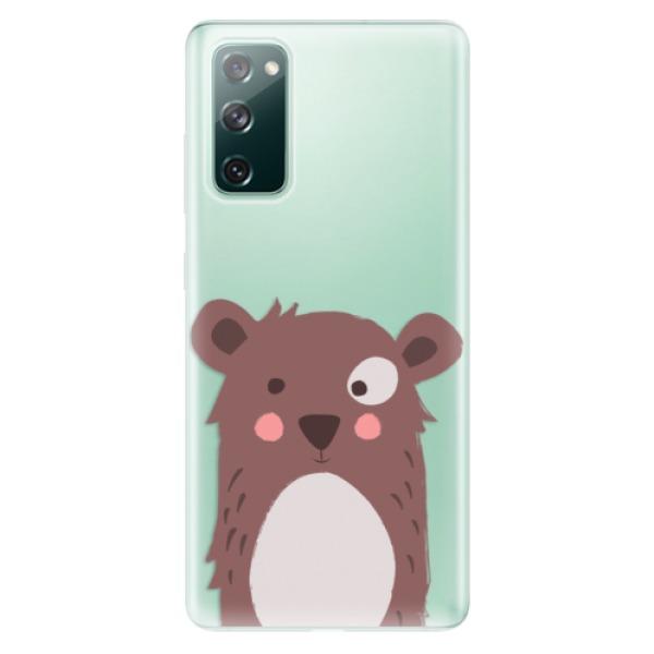 Odolné silikonové pouzdro iSaprio - Brown Bear - Samsung Galaxy S20 FE
