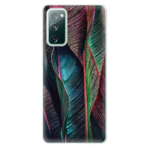Odolné silikonové pouzdro iSaprio - Black Leaves - Samsung Galaxy S20 FE
