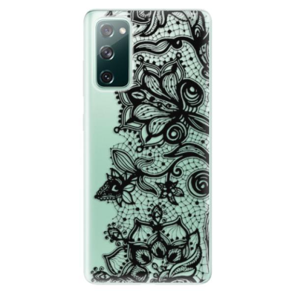 Odolné silikonové pouzdro iSaprio - Black Lace - Samsung Galaxy S20 FE