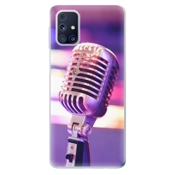 Odolné silikonové pouzdro iSaprio - Vintage Microphone - Samsung Galaxy M31s