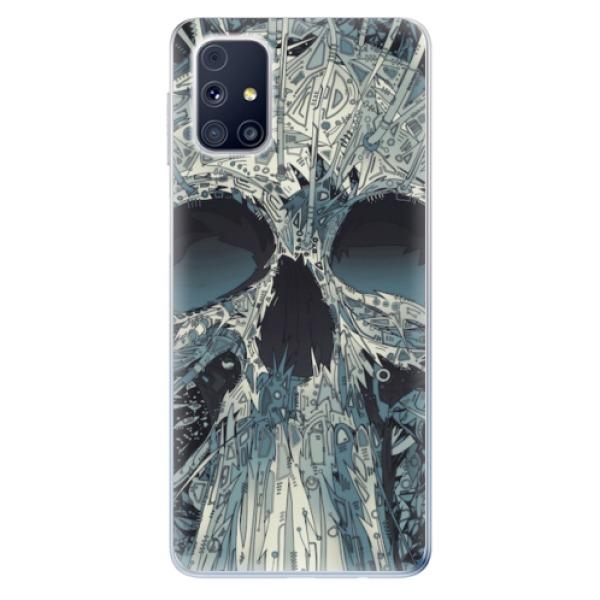 Odolné silikonové pouzdro iSaprio - Abstract Skull - Samsung Galaxy M31s