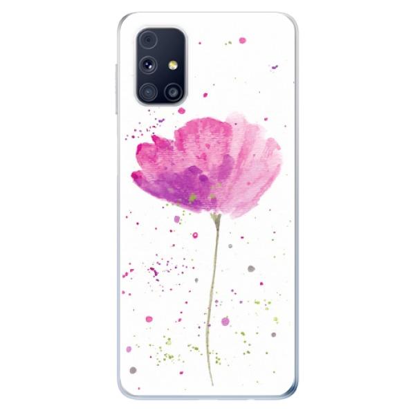 Odolné silikonové pouzdro iSaprio - Poppies - Samsung Galaxy M31s
