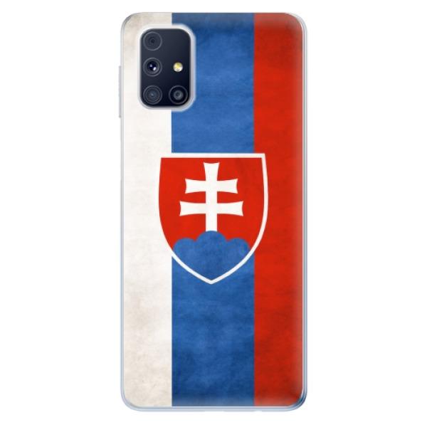 Odolné silikonové pouzdro iSaprio - Slovakia Flag - Samsung Galaxy M31s