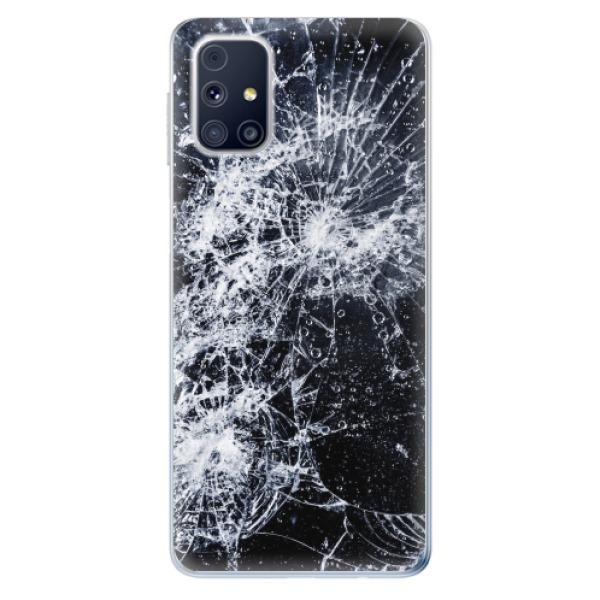 Odolné silikonové pouzdro iSaprio - Cracked - Samsung Galaxy M31s