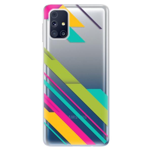 Odolné silikonové pouzdro iSaprio - Color Stripes 03 - Samsung Galaxy M31s