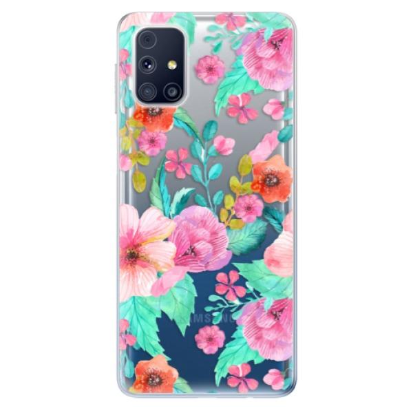 Odolné silikonové pouzdro iSaprio - Flower Pattern 01 - Samsung Galaxy M31s