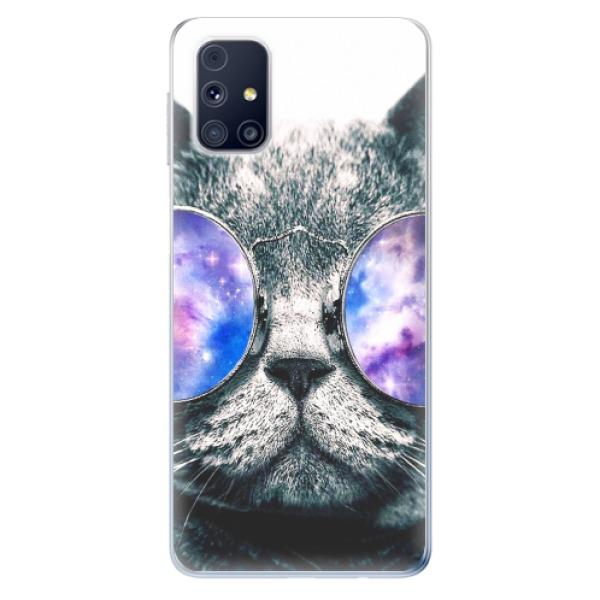 Odolné silikonové pouzdro iSaprio - Galaxy Cat - Samsung Galaxy M31s