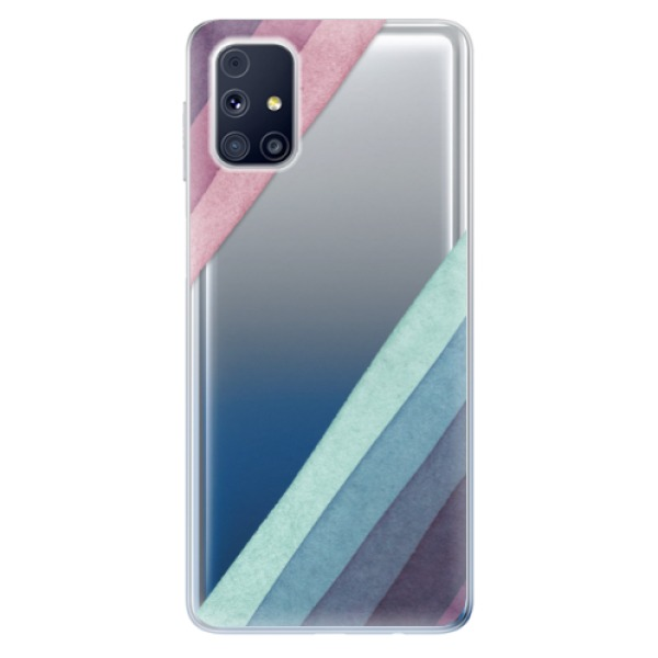 Odolné silikonové pouzdro iSaprio - Glitter Stripes 01 - Samsung Galaxy M31s