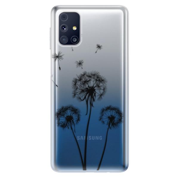 Odolné silikonové pouzdro iSaprio - Three Dandelions - black - Samsung Galaxy M31s