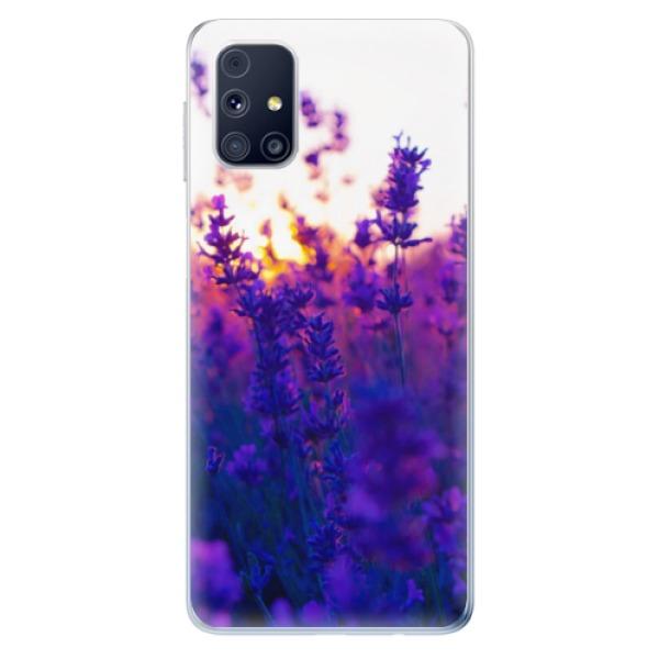 Odolné silikonové pouzdro iSaprio - Lavender Field - Samsung Galaxy M31s