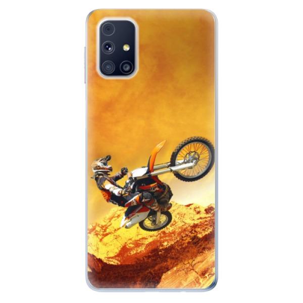 Odolné silikonové pouzdro iSaprio - Motocross - Samsung Galaxy M31s