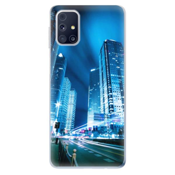 Odolné silikonové pouzdro iSaprio - Night City Blue - Samsung Galaxy M31s