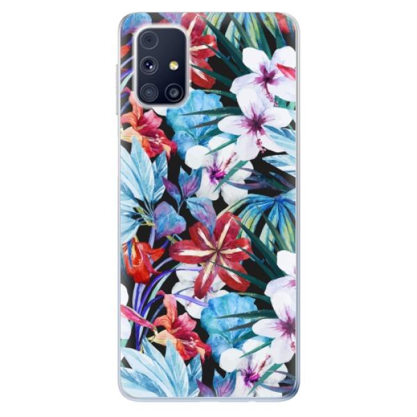 Odolné silikonové pouzdro iSaprio - Tropical Flowers 05 - Samsung Galaxy M31s