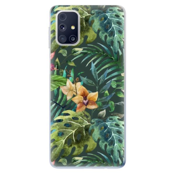 Odolné silikonové pouzdro iSaprio - Tropical Green 02 - Samsung Galaxy M31s