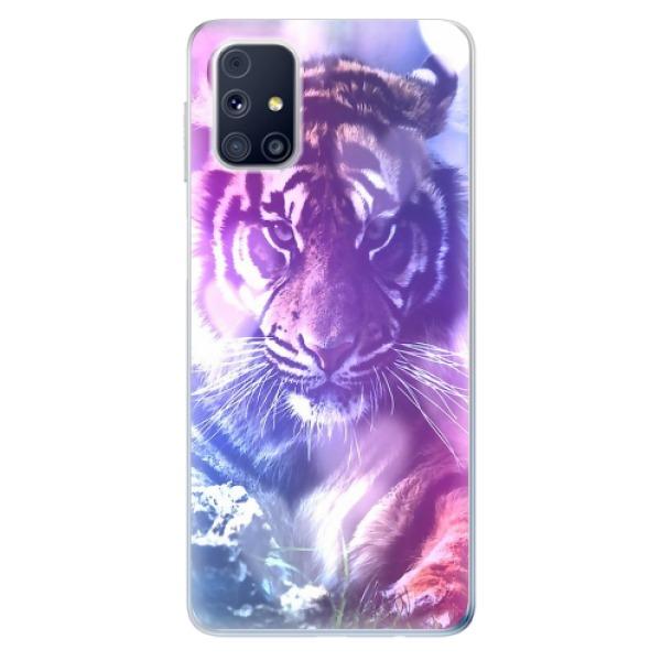 Odolné silikonové pouzdro iSaprio - Purple Tiger - Samsung Galaxy M31s
