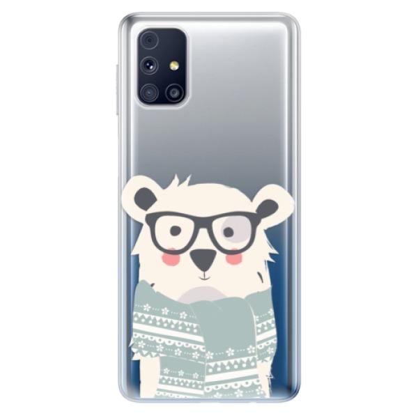Odolné silikonové pouzdro iSaprio - Bear with Scarf - Samsung Galaxy M31s