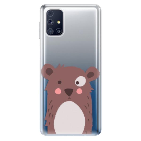 Odolné silikonové pouzdro iSaprio - Brown Bear - Samsung Galaxy M31s