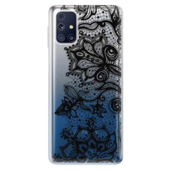 Odolné silikonové pouzdro iSaprio - Black Lace - Samsung Galaxy M31s