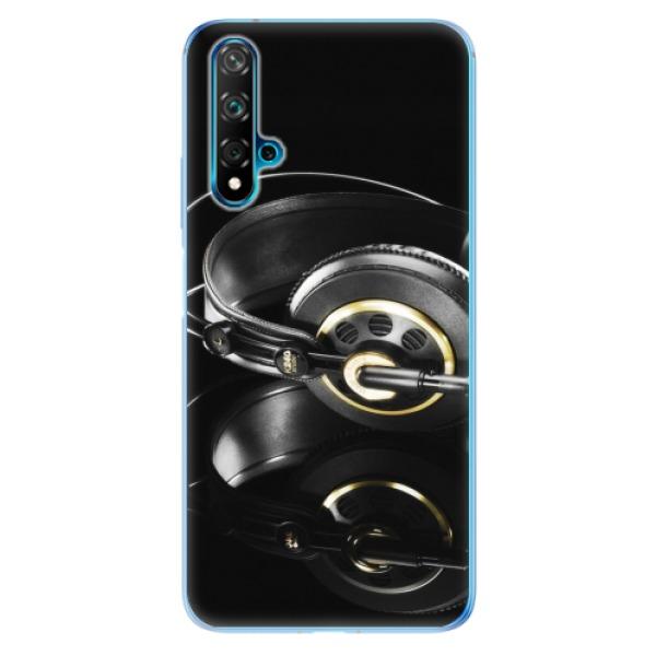 Odolné silikonové pouzdro iSaprio - Headphones 02 - Huawei Nova 5T