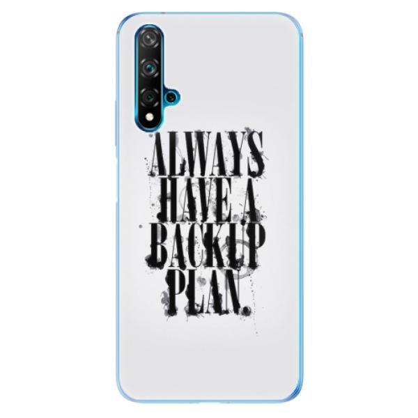 Odolné silikonové pouzdro iSaprio - Backup Plan - Huawei Nova 5T