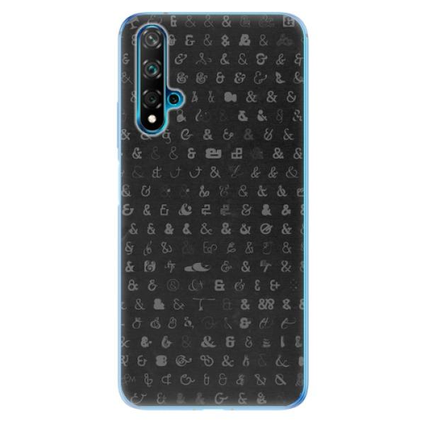 Odolné silikonové pouzdro iSaprio - Ampersand 01 - Huawei Nova 5T