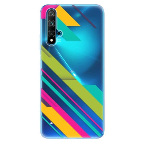 Odolné silikonové pouzdro iSaprio - Color Stripes 03 - Huawei Nova 5T