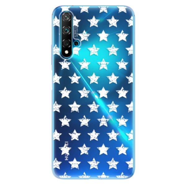 Odolné silikonové pouzdro iSaprio - Stars Pattern - white - Huawei Nova 5T