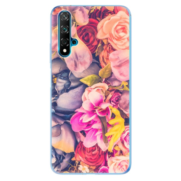 Odolné silikonové pouzdro iSaprio - Beauty Flowers - Huawei Nova 5T