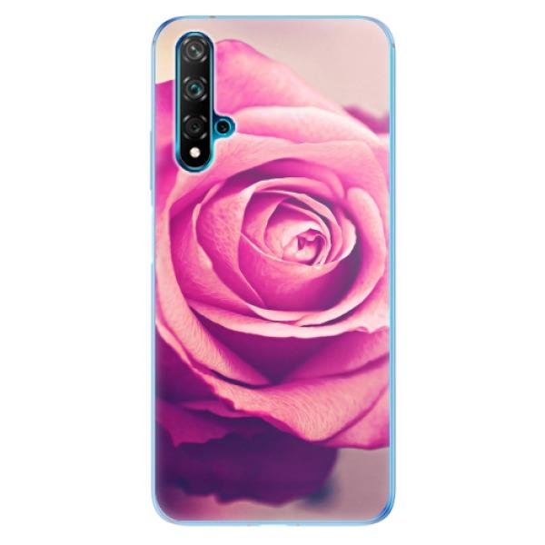 Odolné silikonové pouzdro iSaprio - Pink Rose - Huawei Nova 5T