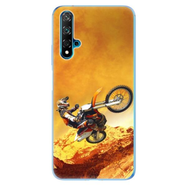 Odolné silikonové pouzdro iSaprio - Motocross - Huawei Nova 5T