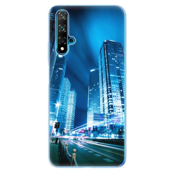 Odolné silikonové pouzdro iSaprio - Night City Blue - Huawei Nova 5T