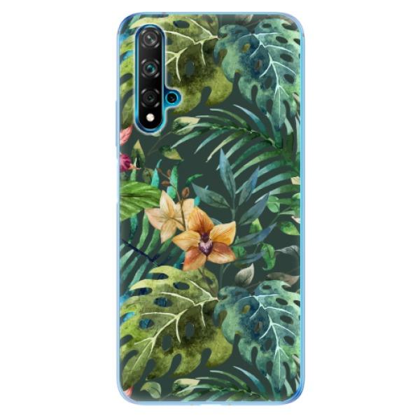 Odolné silikonové pouzdro iSaprio - Tropical Green 02 - Huawei Nova 5T