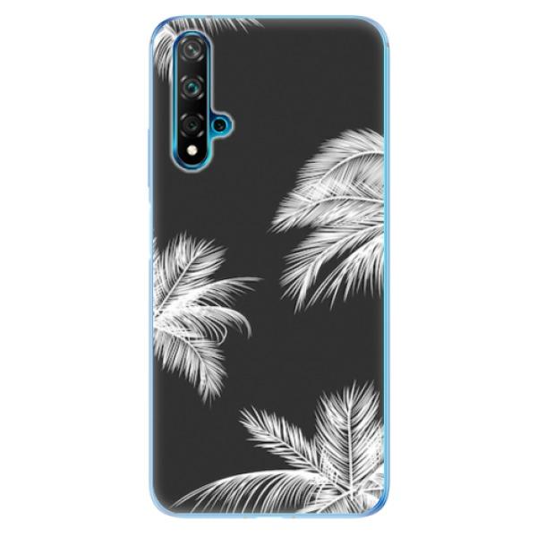 Odolné silikonové pouzdro iSaprio - White Palm - Huawei Nova 5T