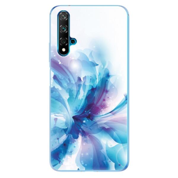 Odolné silikonové pouzdro iSaprio - Abstract Flower - Huawei Nova 5T