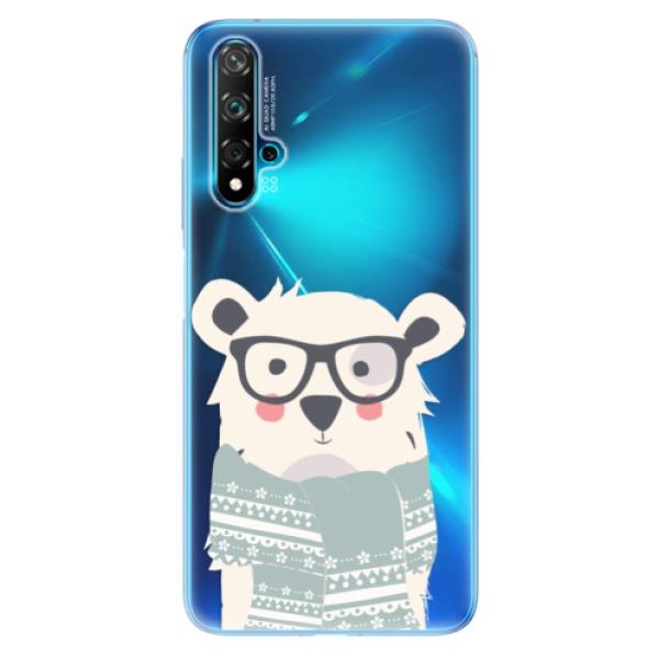 Odolné silikonové pouzdro iSaprio - Bear with Scarf - Huawei Nova 5T