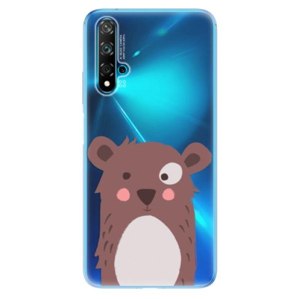 Odolné silikonové pouzdro iSaprio - Brown Bear - Huawei Nova 5T