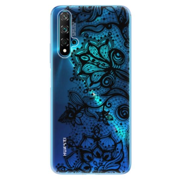 Odolné silikonové pouzdro iSaprio - Black Lace - Huawei Nova 5T