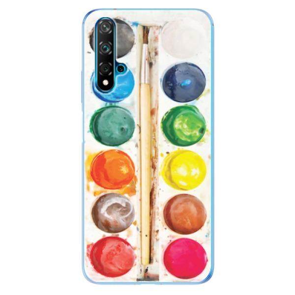 Odolné silikonové pouzdro iSaprio - Watercolors - Huawei Nova 5T