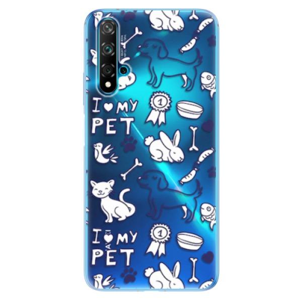 Odolné silikonové pouzdro iSaprio - Love my pets - Huawei Nova 5T