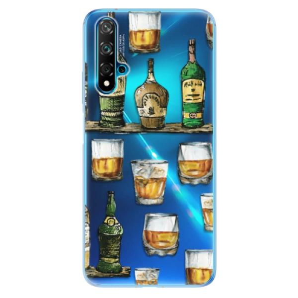 Odolné silikonové pouzdro iSaprio - Whisky pattern - Huawei Nova 5T