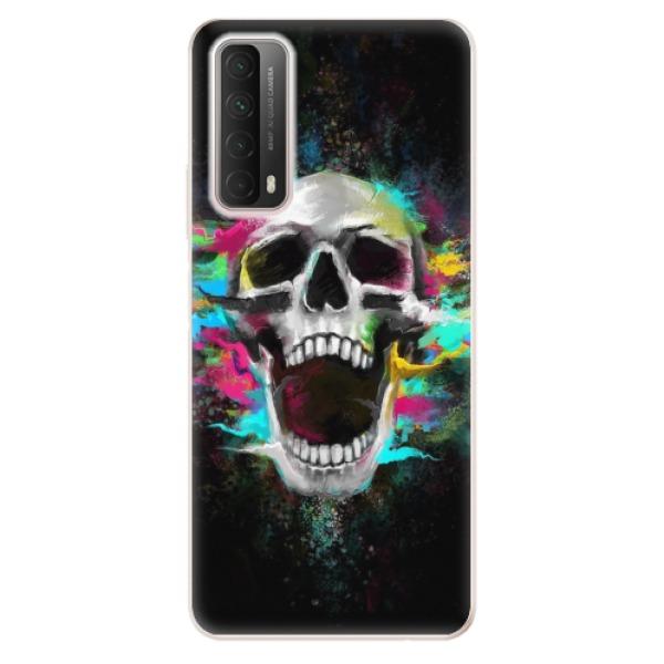 Odolné silikonové pouzdro iSaprio - Skull in Colors - Huawei P Smart 2021