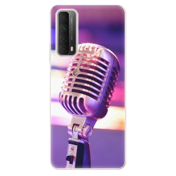 Odolné silikonové pouzdro iSaprio - Vintage Microphone - Huawei P Smart 2021