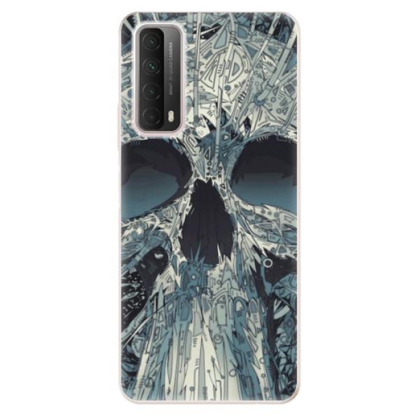 Odolné silikonové pouzdro iSaprio - Abstract Skull - Huawei P Smart 2021