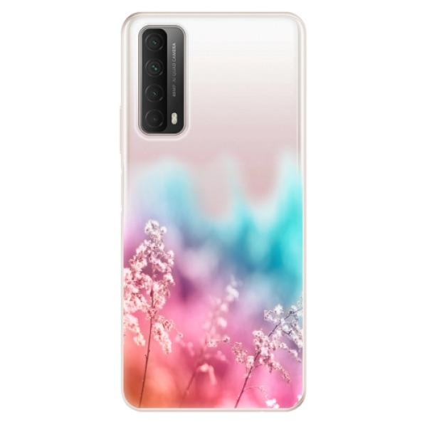 Odolné silikonové pouzdro iSaprio - Rainbow Grass - Huawei P Smart 2021