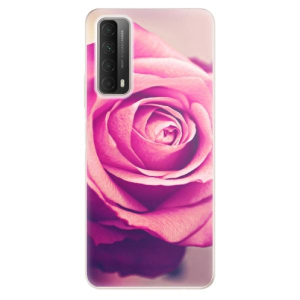 Odolné silikonové pouzdro iSaprio - Pink Rose - Huawei P Smart 2021