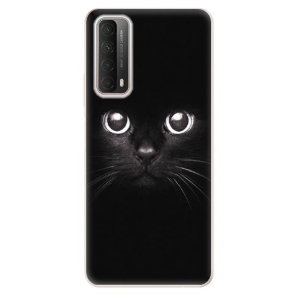 Odolné silikonové pouzdro iSaprio - Black Cat - Huawei P Smart 2021